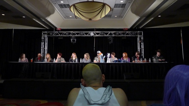 """The """"All the Ponely People"""" panel on Saturday was quite a treat. All of the guests were present for this panel. Image Credit: Xargos"""